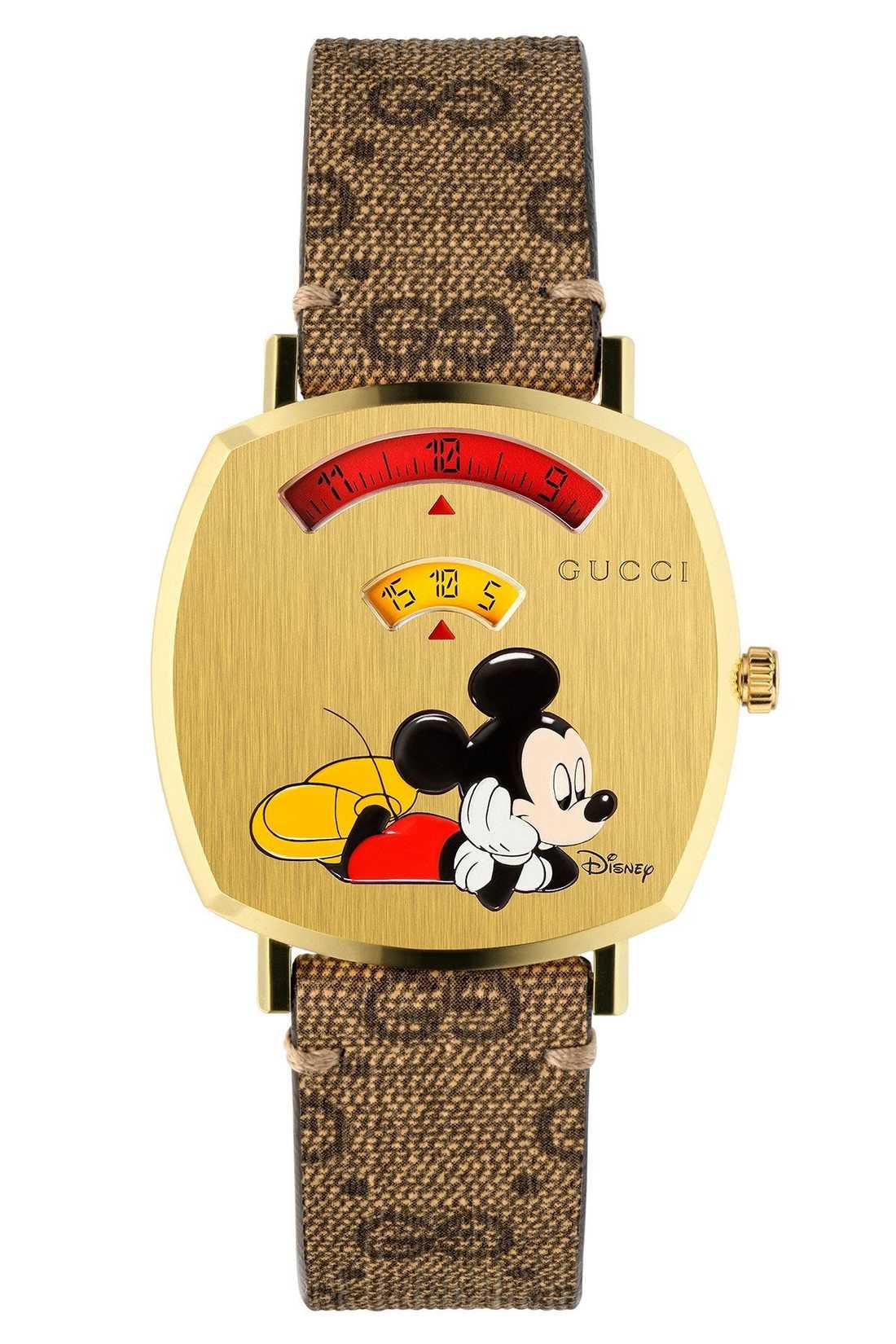 Gucci satsar på ett samarbete med Disney och pryder sin nyårskollektion med Musse Pigg.