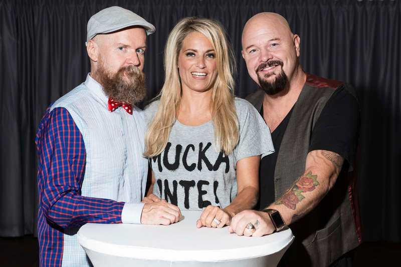 Alexander Bard, Laila Bagge och Anders Bagge.