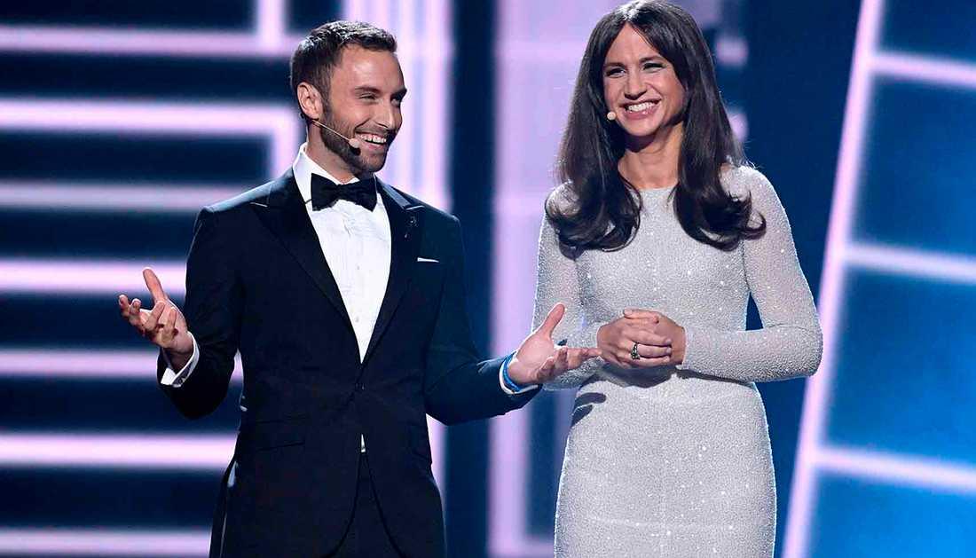 Måns Zelmerlöw och Petra Mede ledde Eurovision song contest 2016 när den hölls i Sverige.