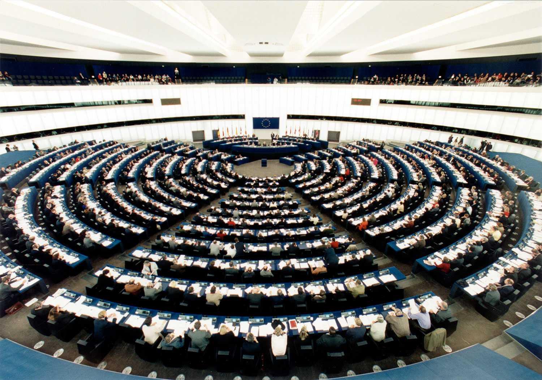 Plenisalen i Europaparlamentet.