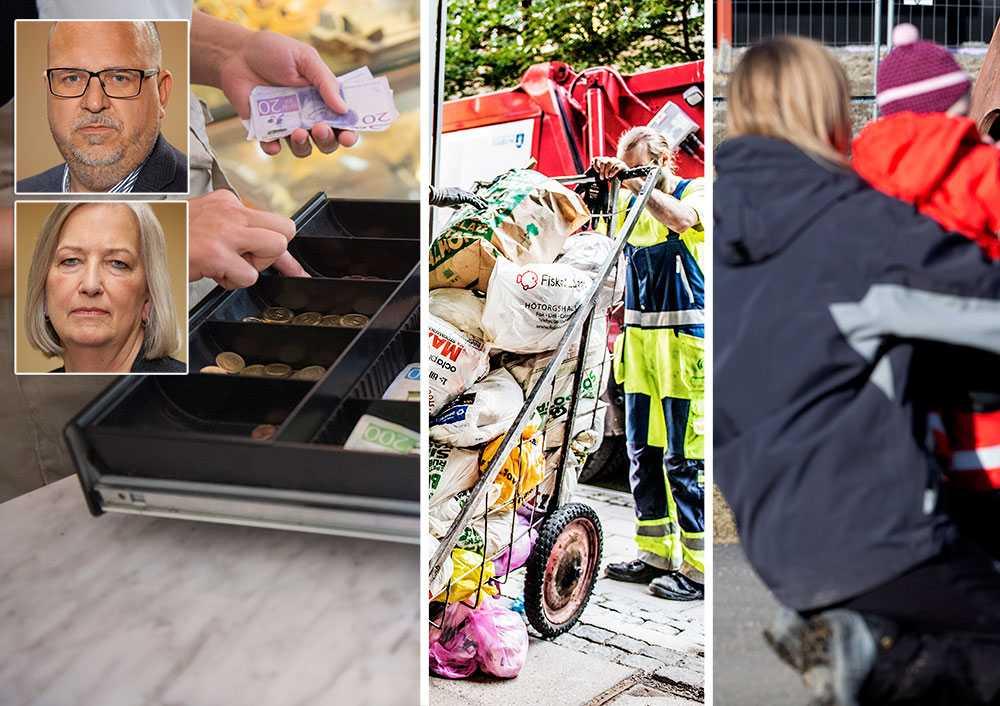 När myndigheterna uppmanar alla som kan att jobba hemma är det LO:s medlemmar som håller samhället igång. För utan sjukvård, äldreomsorg och transporter blir det vardagliga livet omöjligt. Utan mataffärer, förskolor och sophämtning stannar Sverige, skriver Karl-Petter Thorwaldsson och Berit Müllerström, LO.