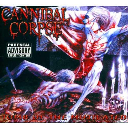 Cannibal Corpse  Här var det livat har var det glatt. Dödsmetall-orkestern Cannibal Corpse lockar med blodig död herre serverandes oralsex till blodig död dam.