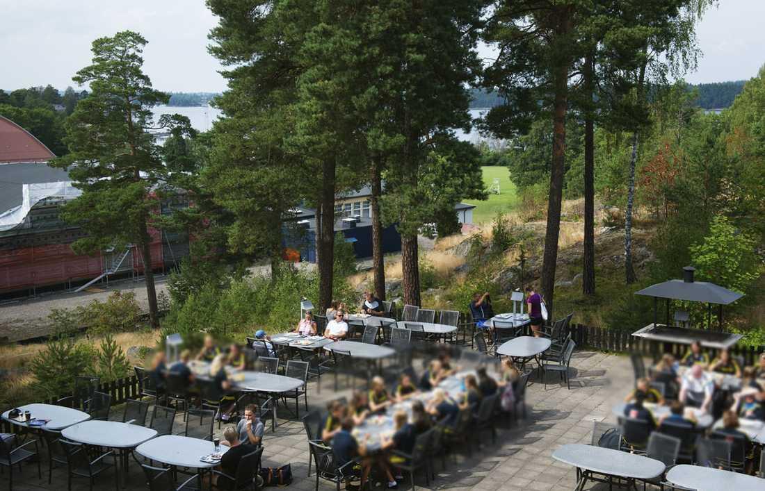 Här på Bosön hölls träningslägret. Bilden är från ett annat tillfälle.