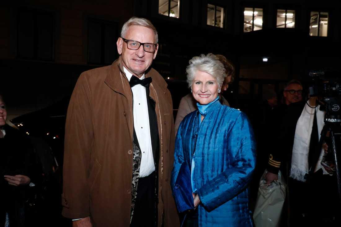 Carl Bildt och Anna Maria Corazza Bildt på bröllop 2018.