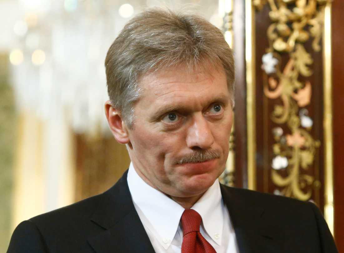 Kremls talesperson Dmitrij Peskov anser att man bör ha förståelse för språkliga särdrag när det gäller en intervju med USA:s Donald Trump. Arkivbild.