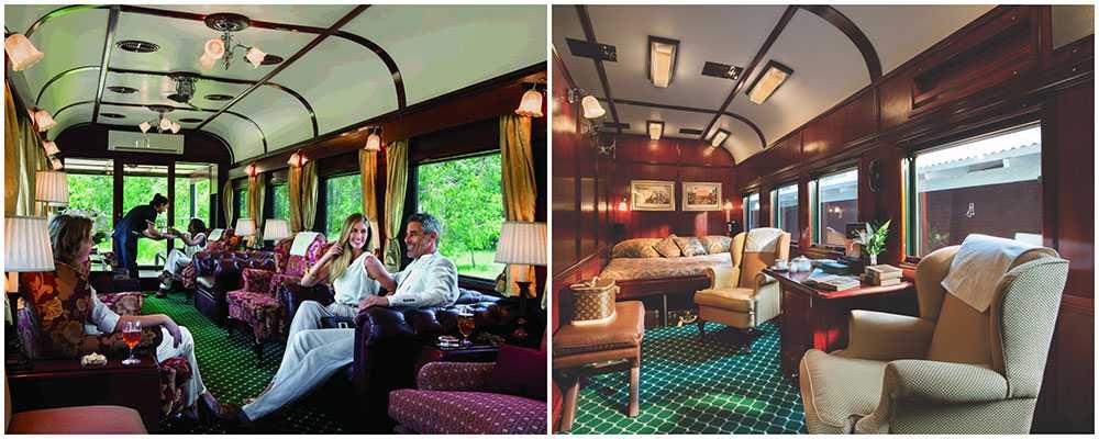 Världens lyxigaste tåg har lounger, observatorievagn, exklusiva sviter och en terrass.