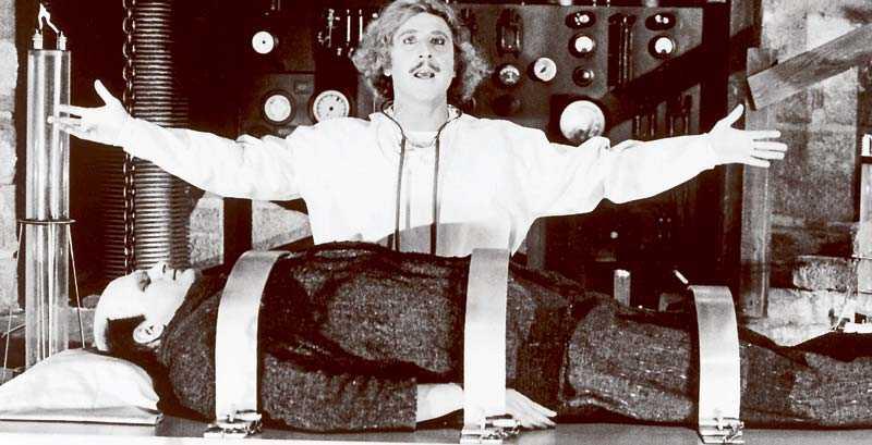 """Gene Wilder i """"Det våras för Frankenstein"""" från 1974."""