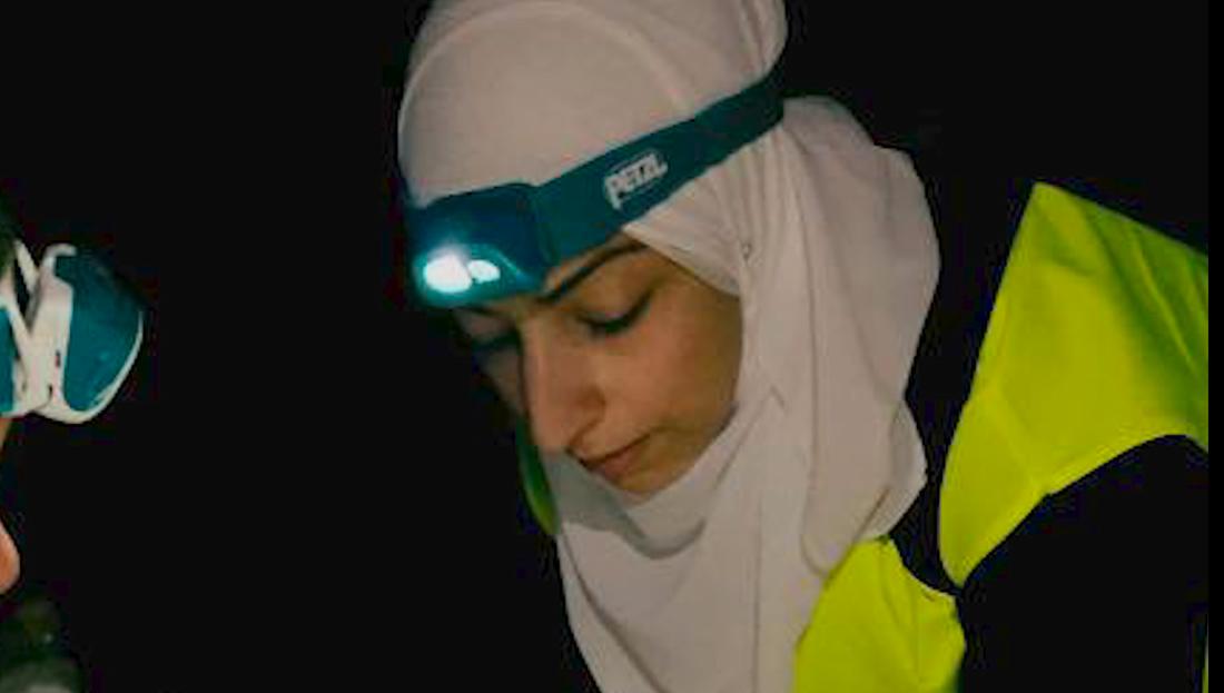 Sjuksköterskan Israa Abdali var på plats som volontär på Lesbos.