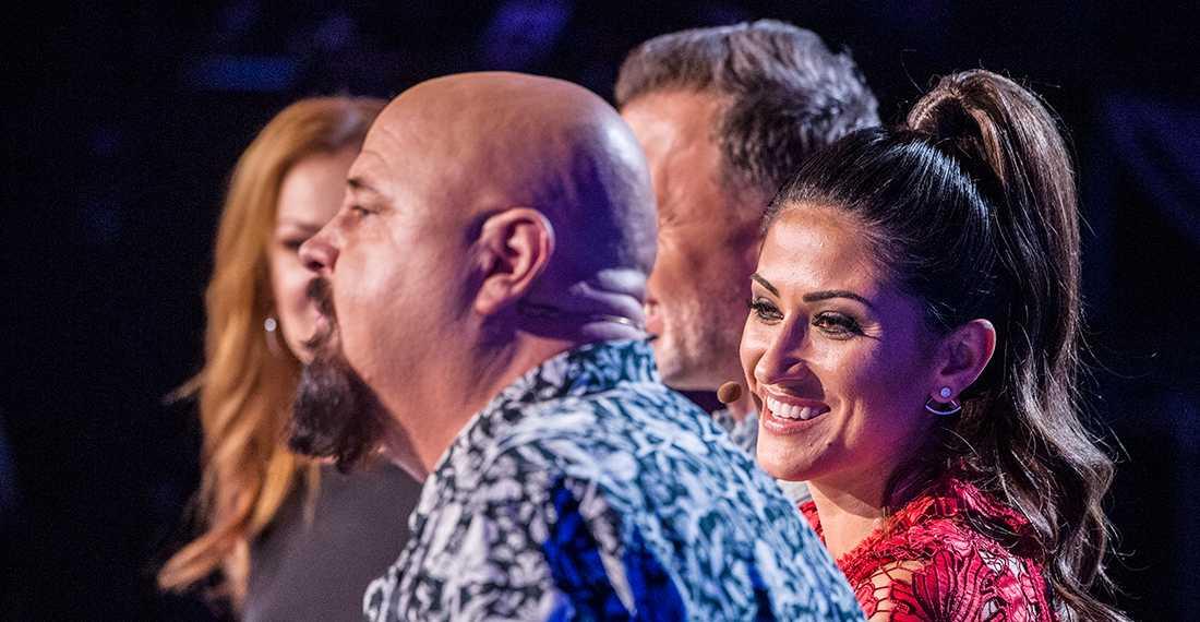 """Anders Bagge och de andra i """"Idol""""-juryn."""