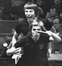 Kjell Johansson och Stellan Bengtsson under VM 1977.