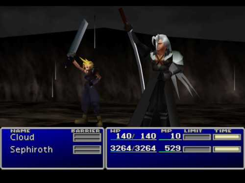 """""""Final fantasy VII"""" till Playstation."""
