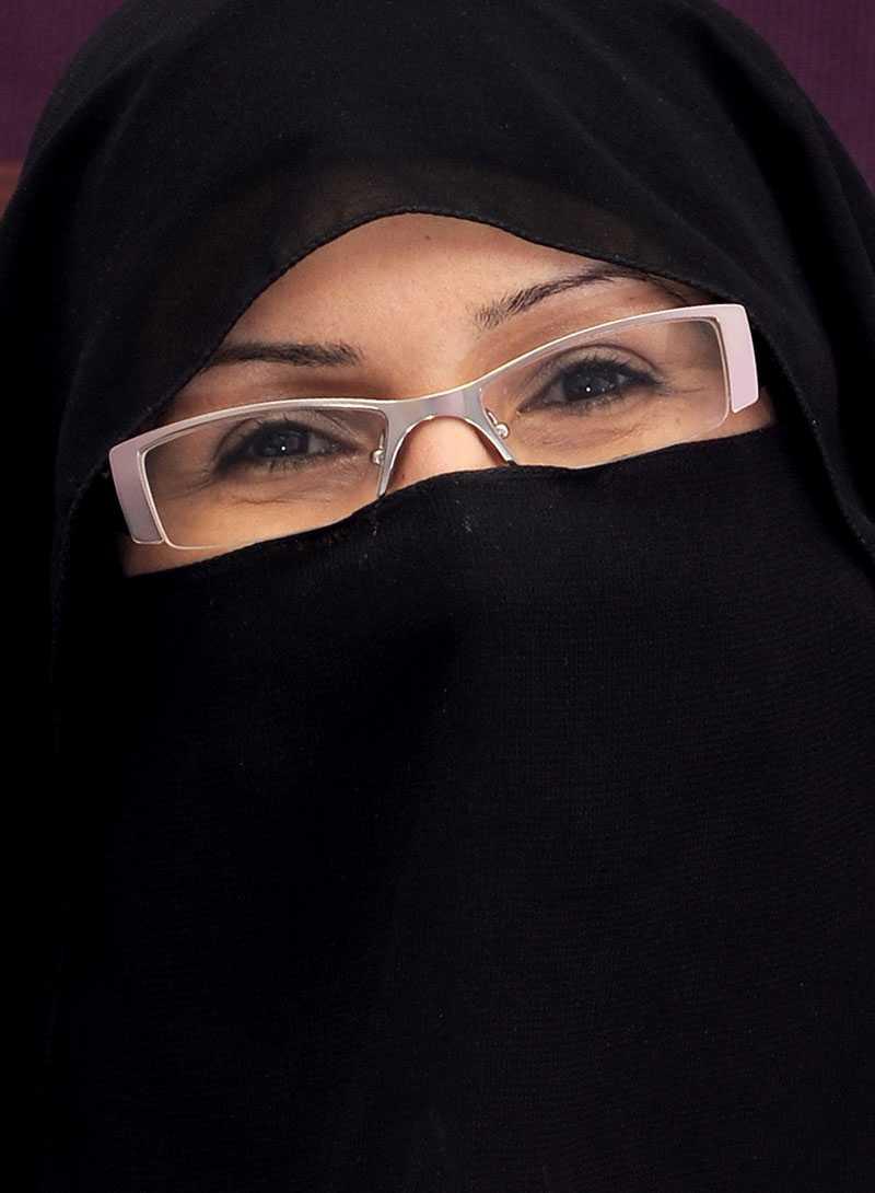 "Khadra al-Mubarak startade ""Miss Beautiful Morals"" i Saudiarabien förra året."