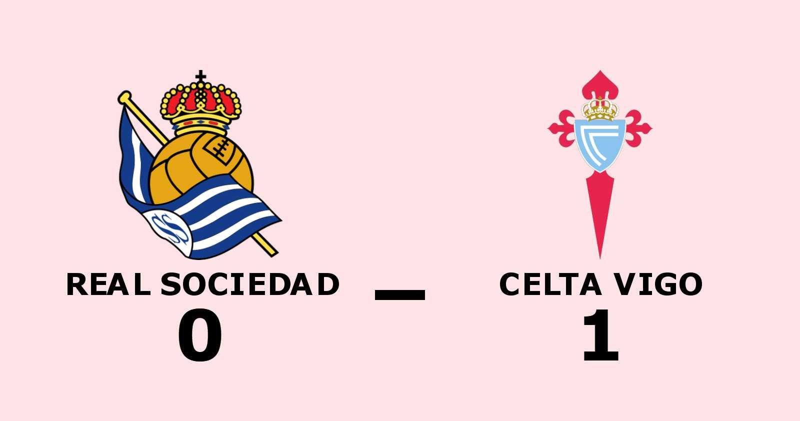 Iago Aspas målskytt när Celta Vigo sänkte Real Sociedad