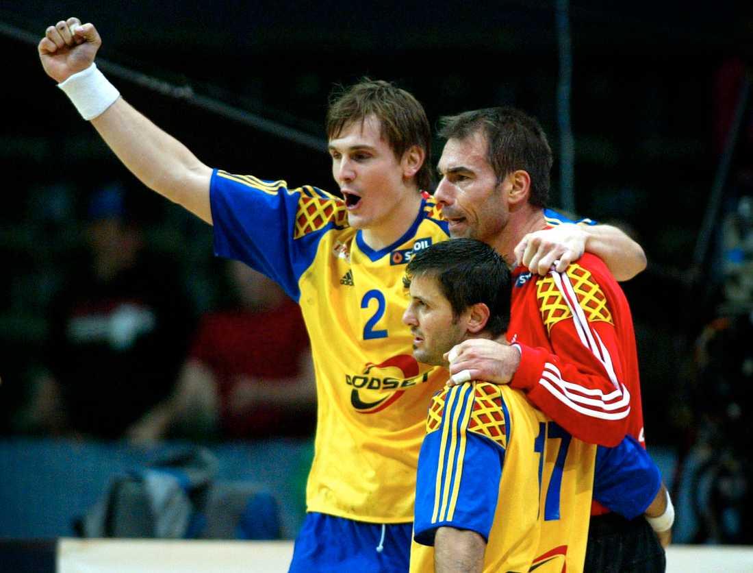 Martin Boquist, Tomas Svensson och Ljubomir Vranjes 2004.