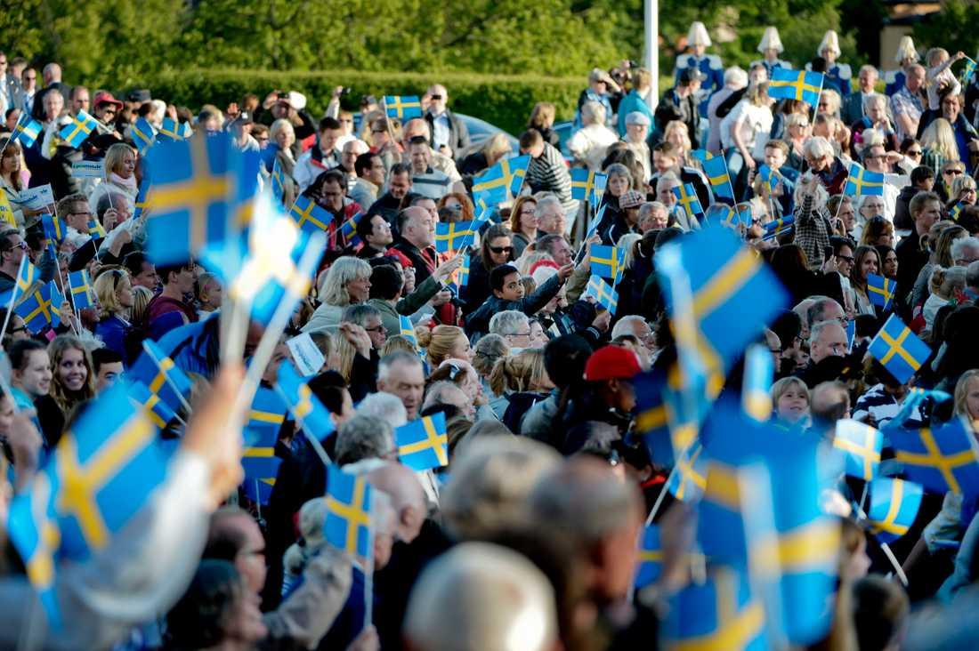 Nationaldagsfirande på Skansen 2012.