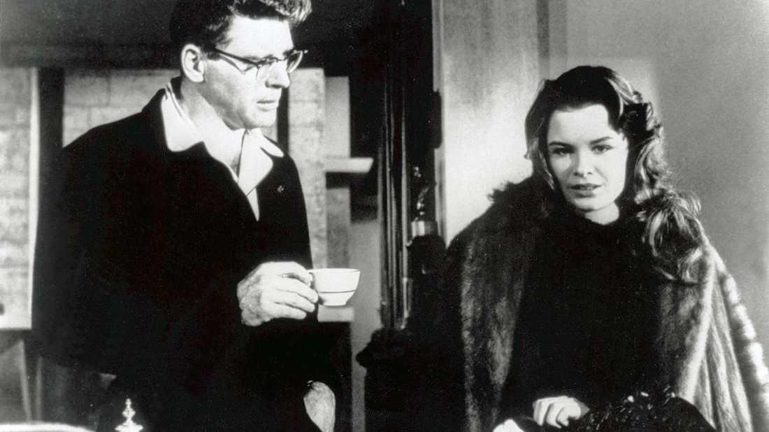 """Burt Lancaster och Susan Harrison i """"Segerns sötma""""."""