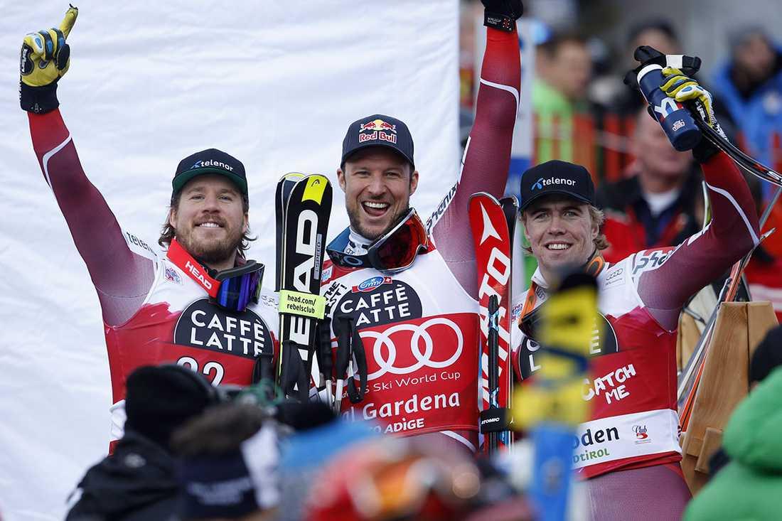 Svindal, Jansrud och Kilde ordnade trippeln.