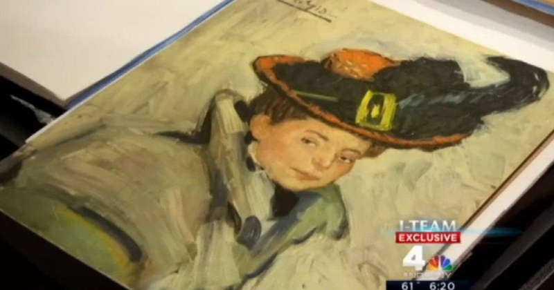 """LÅG BAKOM EN SYMASKIN Tavlan som hittades i New York kan vara en version av Picassos """"Woman with a cape""""."""
