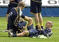 Vilar mot Norge. Fredrik Ljungberg spelar inte mot Norge på onsdag. Arsenal-stjärnan är sliten efter en lång säsong.