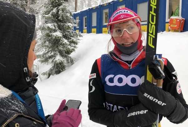 Teresa Stadlober på plats i Ruka.