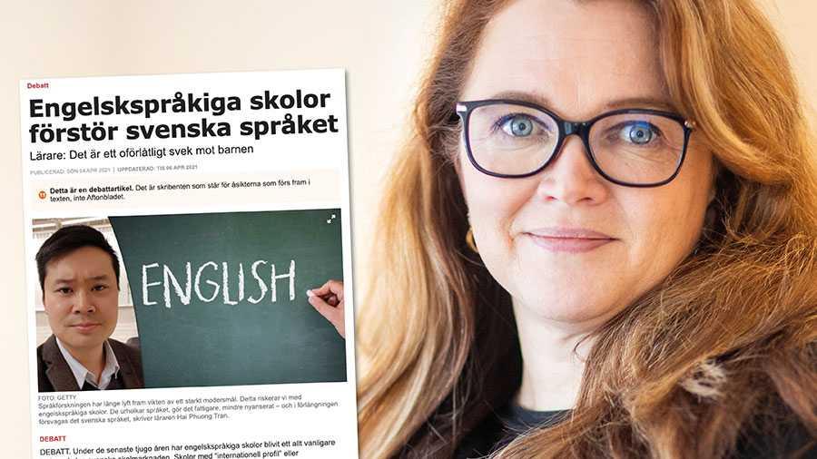 Att vara tvåspråkig handlar om att behärska båda språken utan att det sker på det andra språkets bekostnad. Att vara tvåspråkig är inte att vara halvspråkig. Replik från Annakarin Johansson Sandman, IES.
