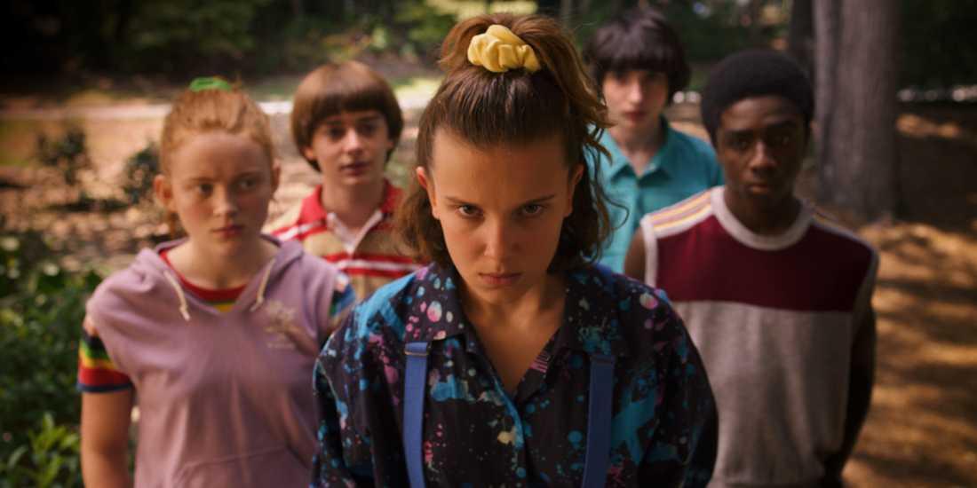 """Millie Bobby Brown i rollen som Eleven i Netflix-serien """"Stranger things""""."""