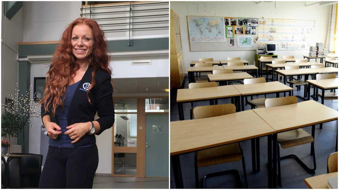 Linda kände att de var tvungna att sysselsätta de nyanlända eleverna så att de inte tappar det svenska språket.