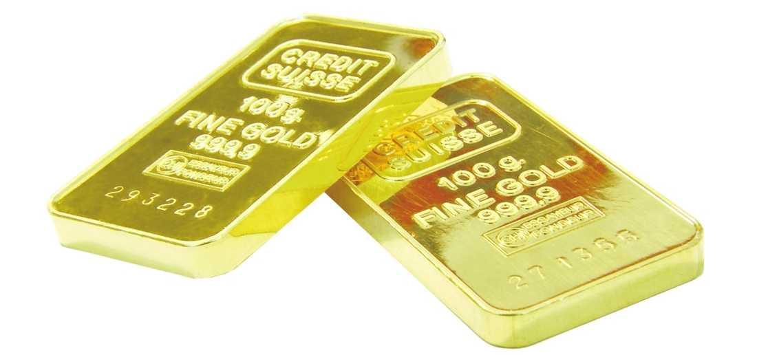 Guld Curt Degerman hade 128 sådana här guld- tackor i bankfacket.