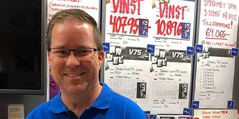 Magnus Kvist hos spelbutiken Gränden i Linköing.