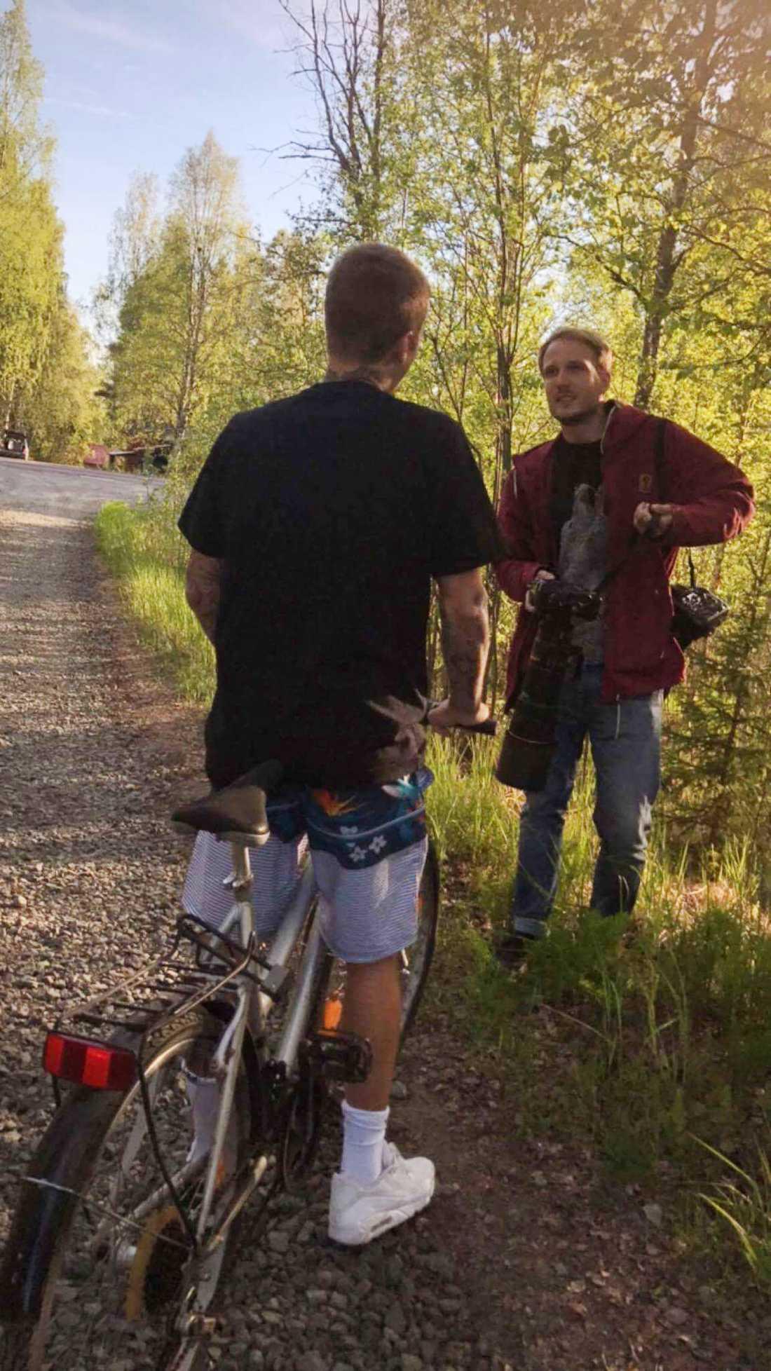 Justin Bieber och Aftonbladets fotograf Simon Eliasson.