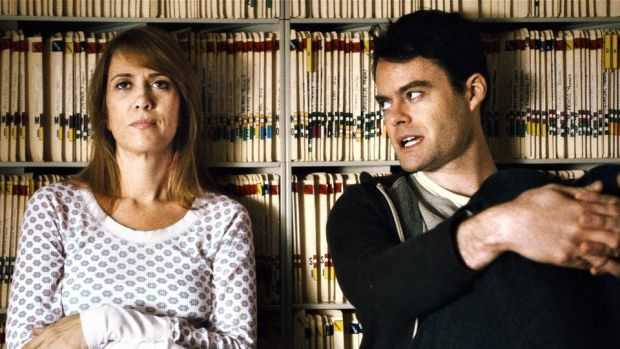 "Kristen Wiig och Bill Hader i ""The skeleton twins""."