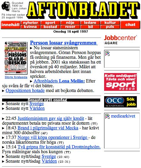 Aftonbladet 1997.