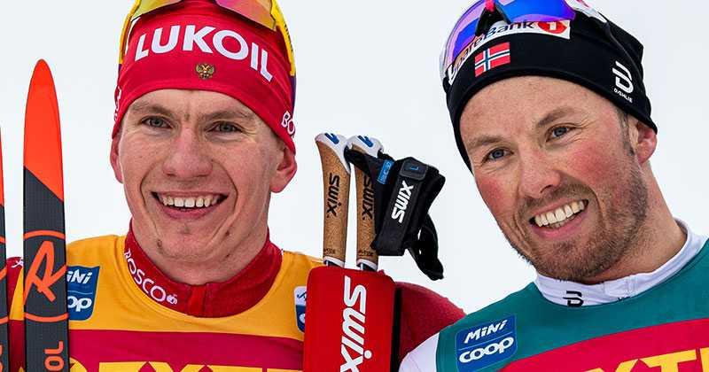 Alexander Bolsjunov och Emil Iversen.