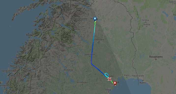 Flygplanets färdväg