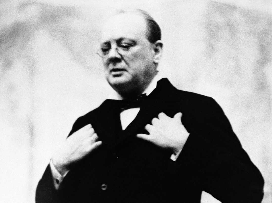 Den brittiske premiärministern Winston Churchill på en bild från 1930-talet. Arkivbild.