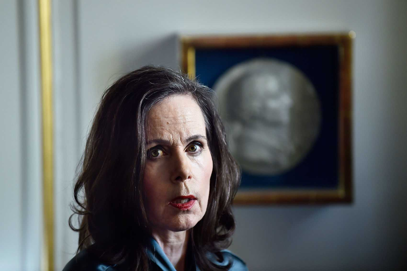 Svenska Akademiens ständiga sekreterare Sara Danius.