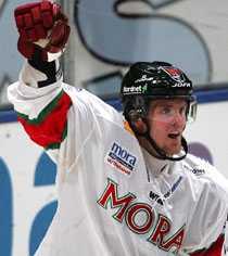 DÅ Daniel Cleary jublar med Mora 2004.