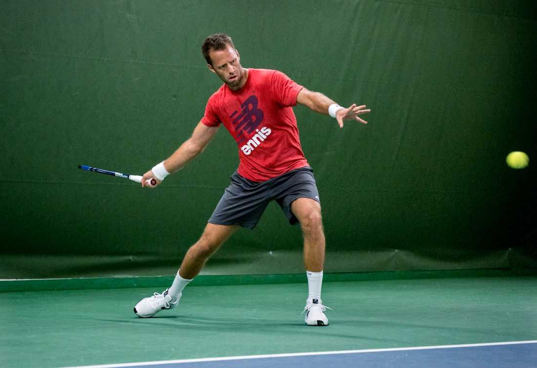 Robert Lindstedt och hans dubbelpartner Jelena Ostapenko är klara för semifinal i Wimbledons mixeddubbel. Arkivbild.