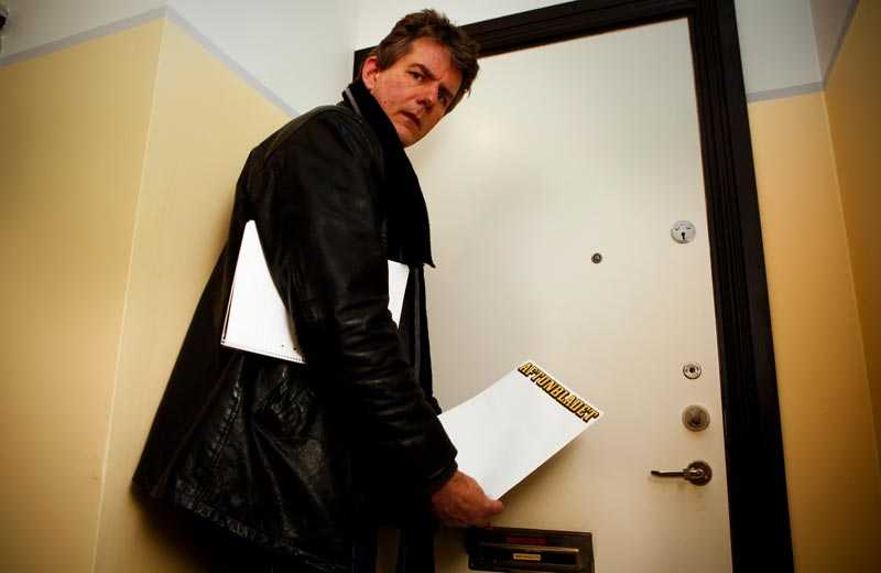 Sportbladets Per-Ola Ohlsson söker Klette på hans folkbokföringsadress i Lund. Han är inte där.