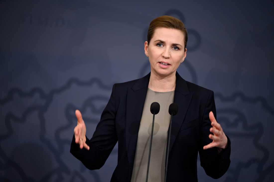 Danmarks statsminister Mette Frederiksen vill utöka möjligheterna till tvångsadoption. Arkivbild.