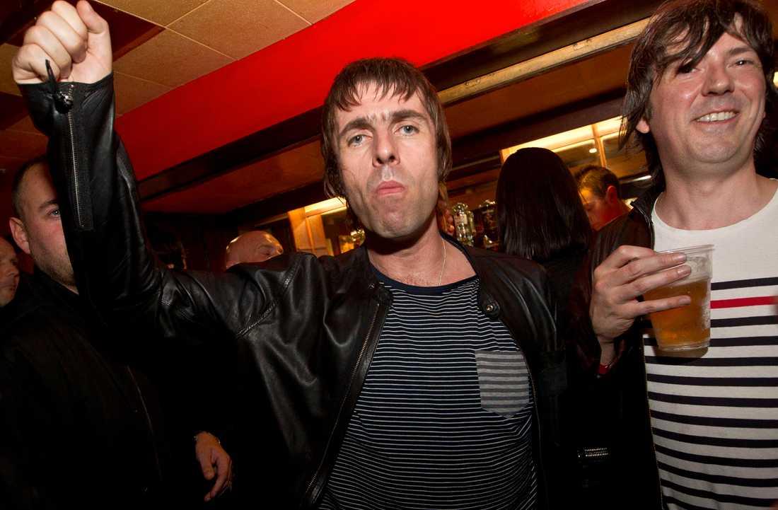 Liam Gallagher vill inte att publiken kastar fisk.