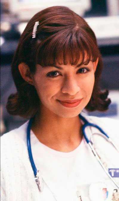 """Vanessa Marquez spelade rollen som Sjuksköteskan """"Wendy Goldberg""""."""