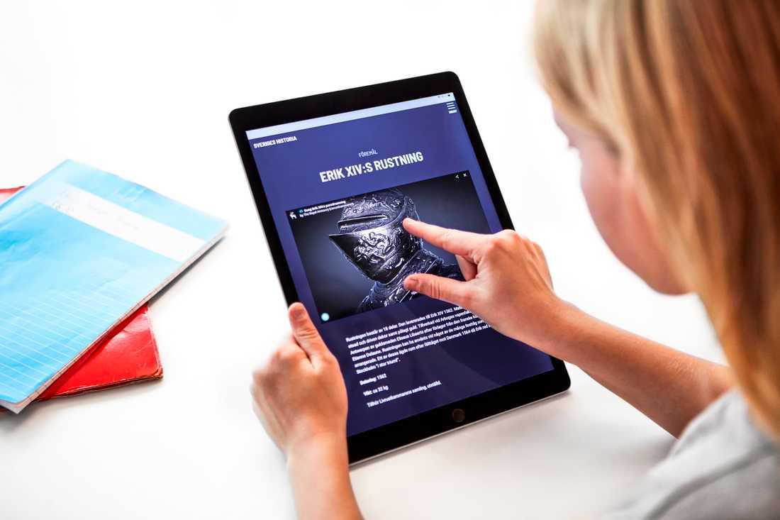 Den nya sajten riktar sig först och främst till grundskoleelever, men är öppen för alla intresserade. Pressbild.