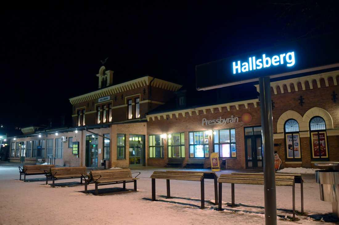 Stationen i Hallsberg.