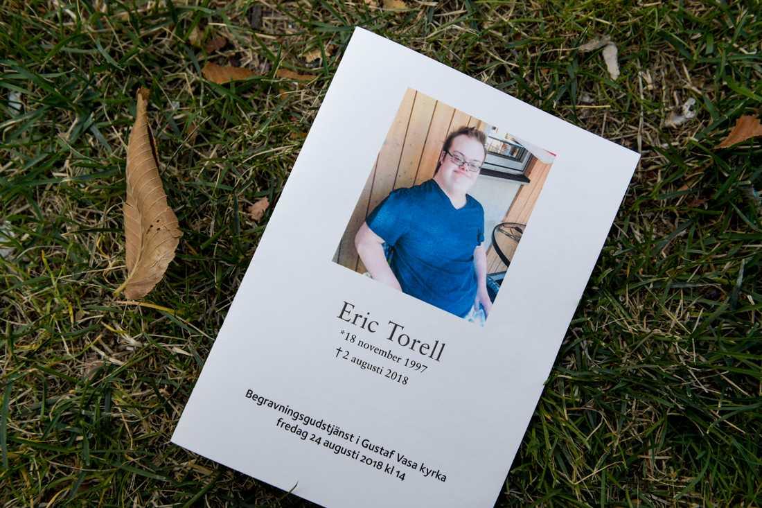 Eric Torell sköts av polisen i augusti 2018.