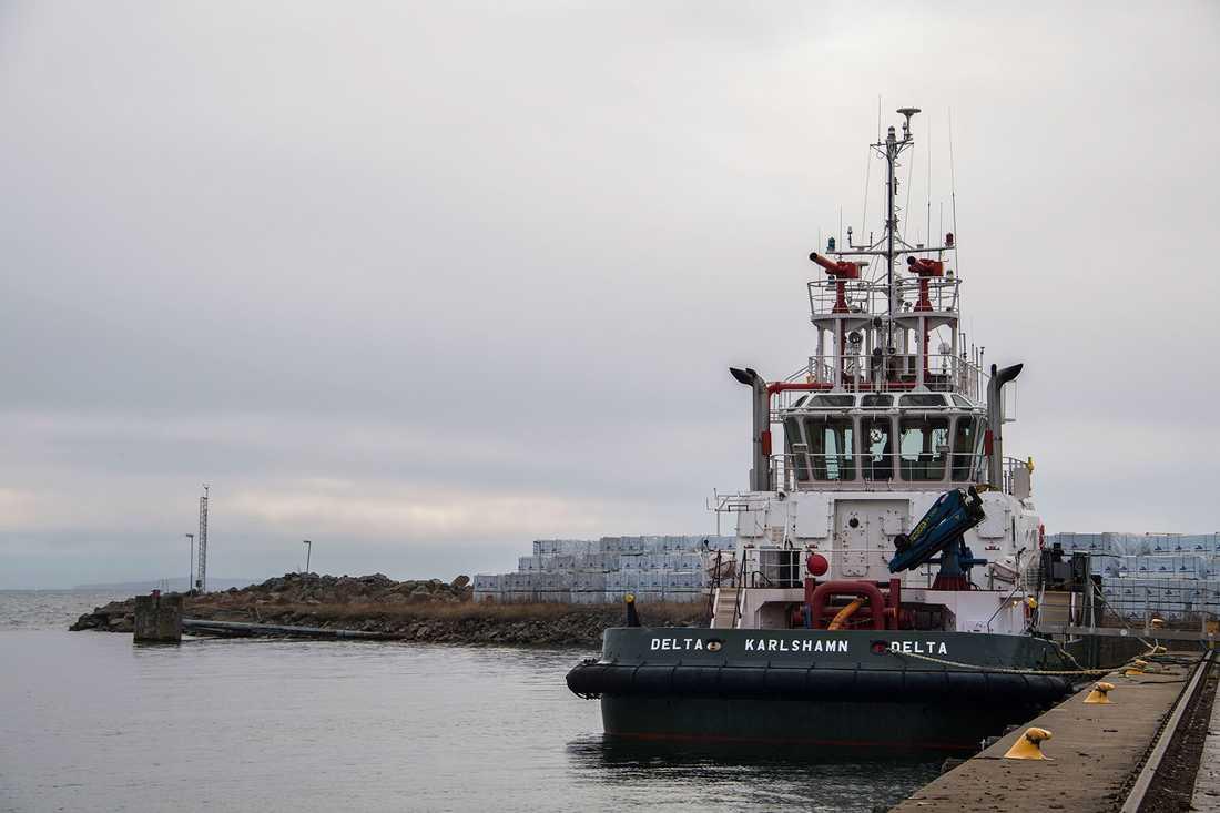 Hamnen i Karlshamn.