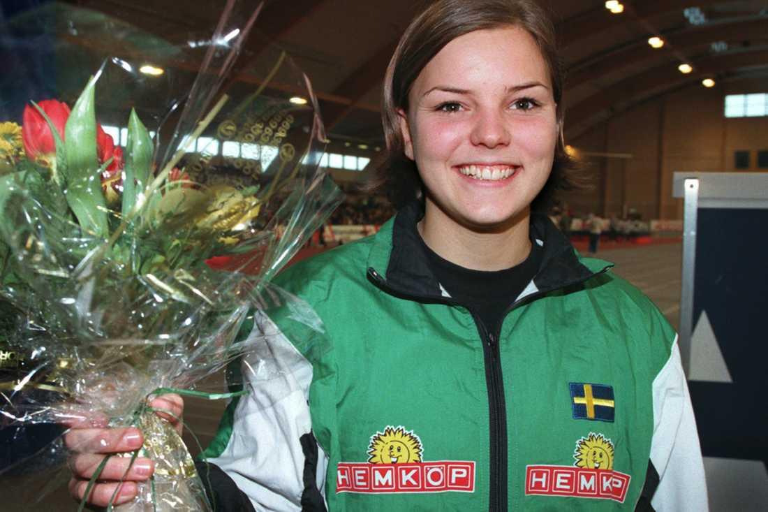 Redan 1999 vann hon inomhus-SM på 60 meter häck.