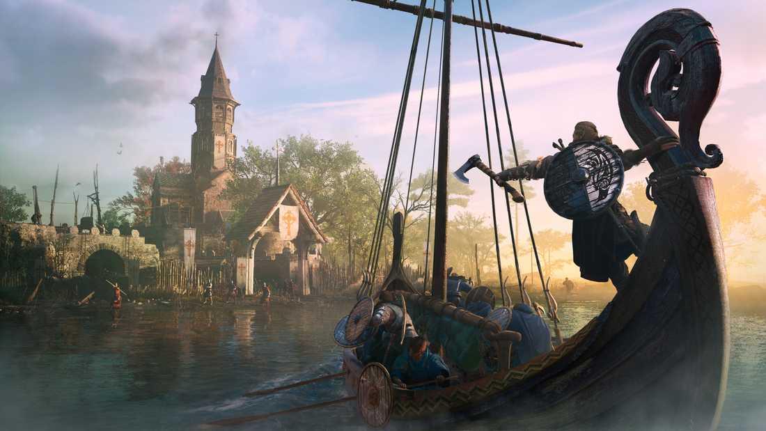 """I """"Assassin's creed Valhalla"""" lämnar en grupp vikingar Norge för att söka lyckan i dagens England."""