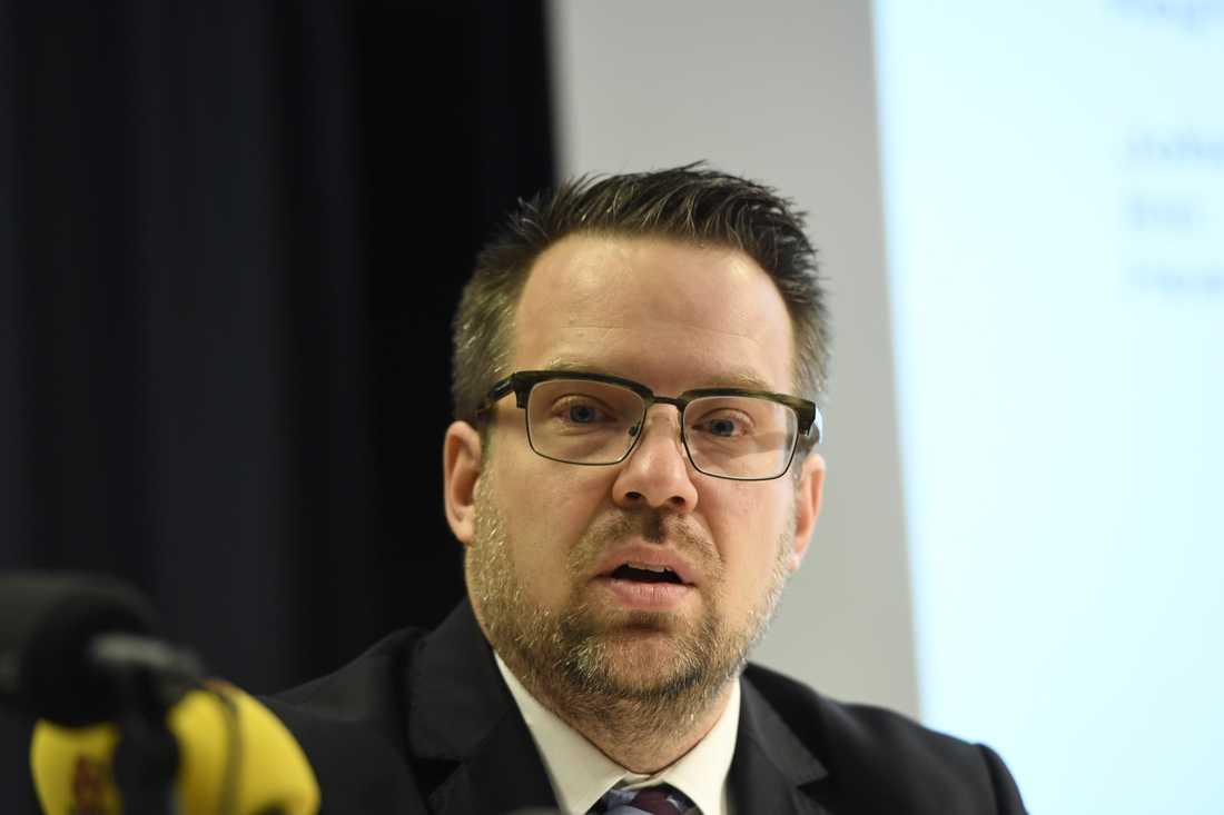Johan Olsson, operativ chef vid Säkerhetspolisen. Arkivbild.