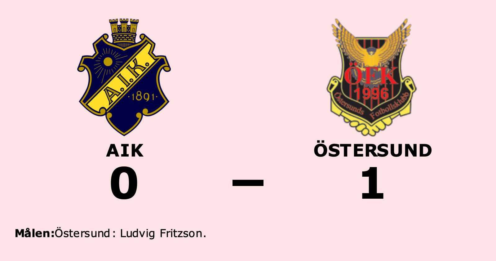 Ludvig Fritzson avgjorde när Östersund sänkte AIK